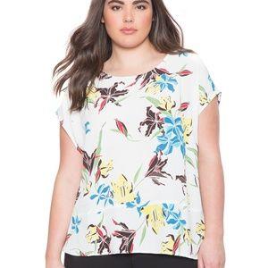 Eloquii Floral Printed Dolman Sleeve Blouse
